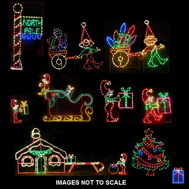 North Pole Scene LED Lighted Outdoor Christmas Decoration