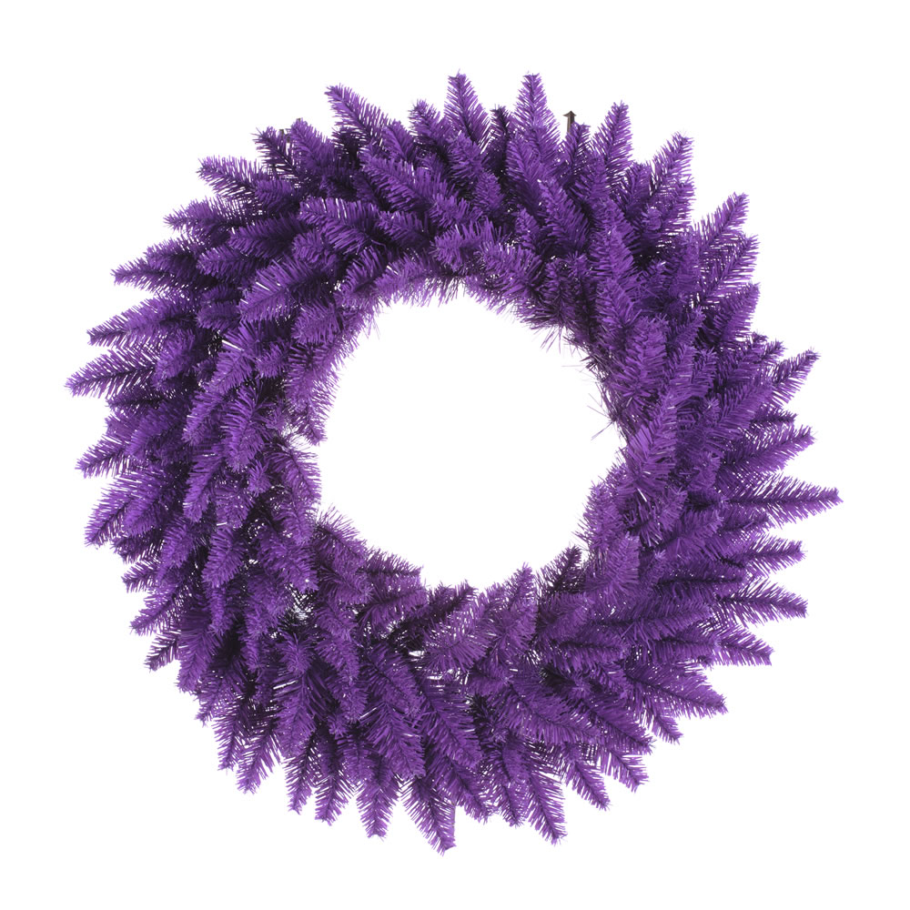 36 Inch Purple Fir Artificial Halloween Wreath Unlit