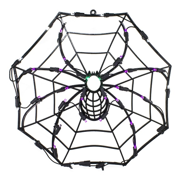 Spooky Spider Web LED Lighted Window Halloween Decoration