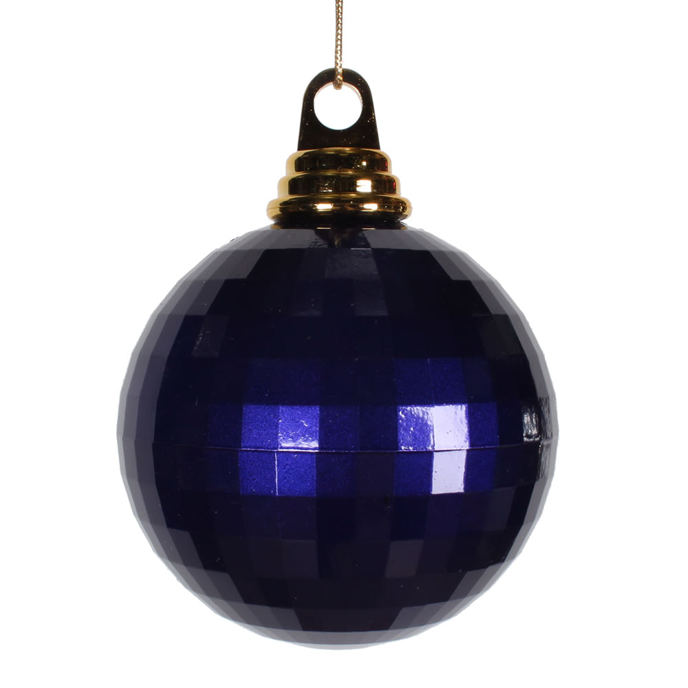 4 Inch Purple Candy Finish Mirror Round Christmas Ball Ornament