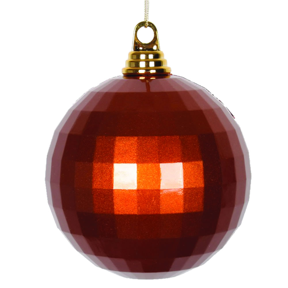 5.5 Inch Copper Candy Finish Mirror Round Christmas Ball Ornament