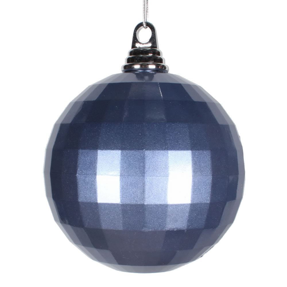 5.5 Inch Periwinkle Blue Candy Finish Mirror Round Christmas Ball Ornament