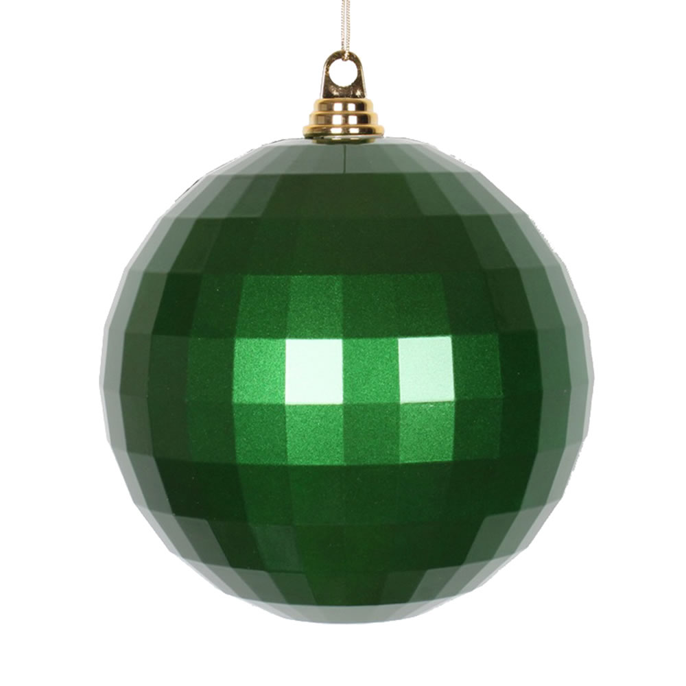 8 Inch Green Candy Finish Mirror Round Christmas Ball Ornament
