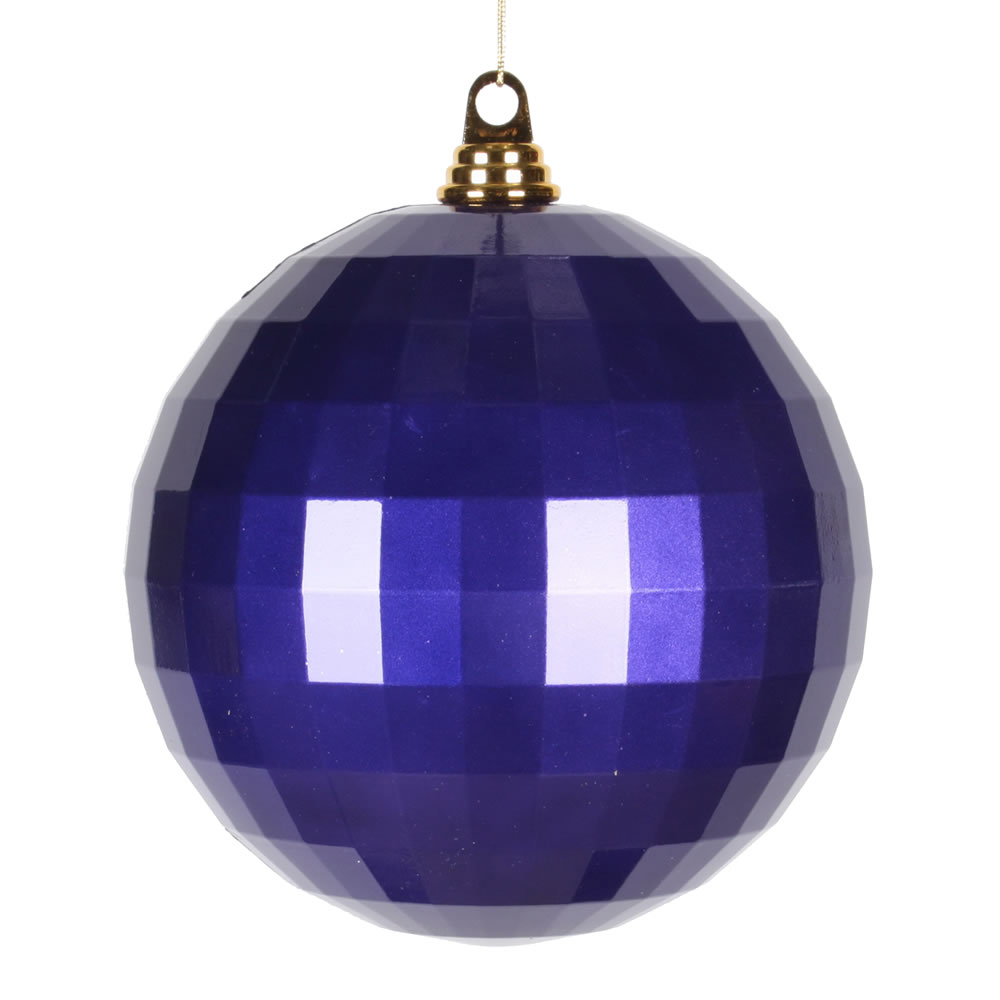 8 Inch Purple Candy Finish Mirror Round Christmas Ball Ornament