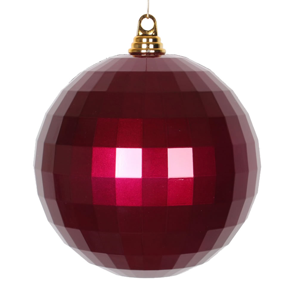 8 Inch Magenta Candy Mirror Christmas Ball Ornament