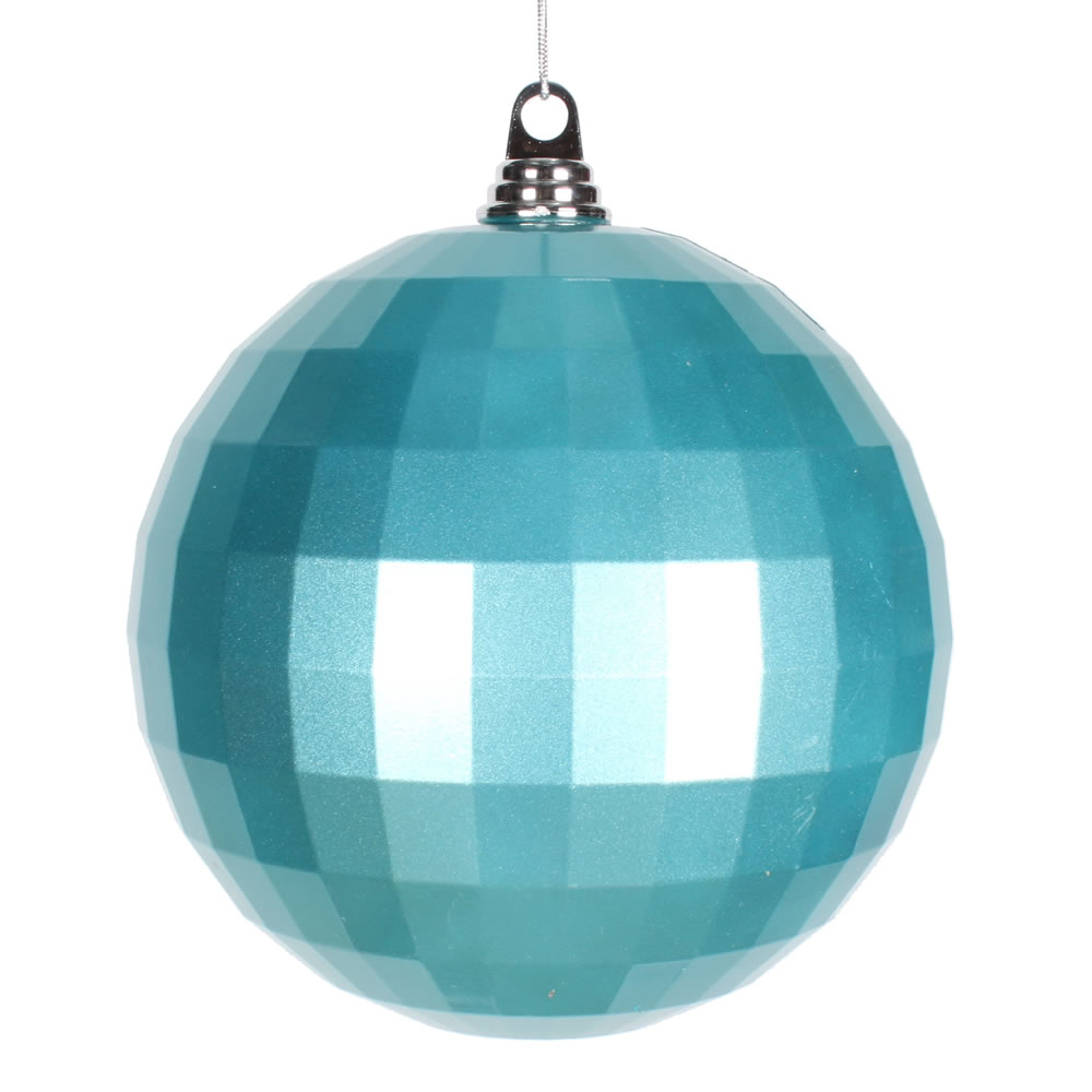 8 Inch Teal Candy Finish Mirror Round Christmas Ball Ornament