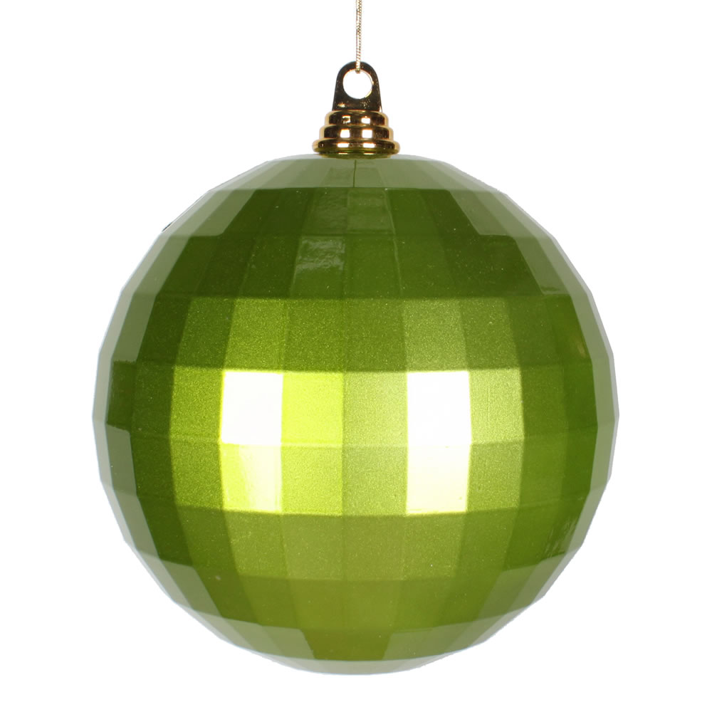 8 Inch Lime Green Candy Finish Mirror Round Christmas Ball Ornament