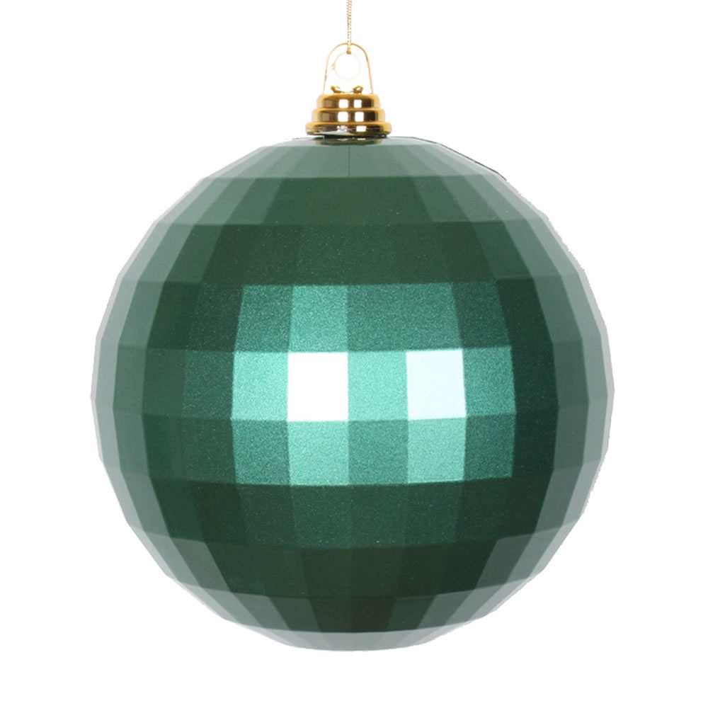 8 Inch Emerald Green Candy Finish Mirror Round Christmas Ball Ornament