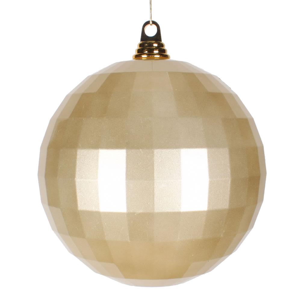 8 Inch Champagne Candy Finish Mirror Round Christmas Ball Ornament
