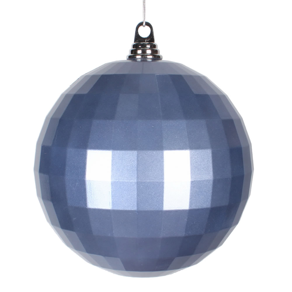 8 Inch Periwinkle Blue Candy Mirror Christmas Ball Ornament