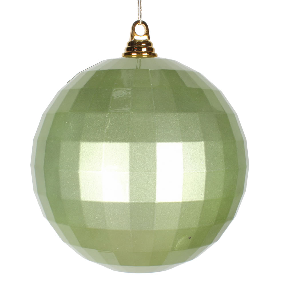 8 Inch Celadon Green Candy Finish Mirror Round Christmas Ball Ornament