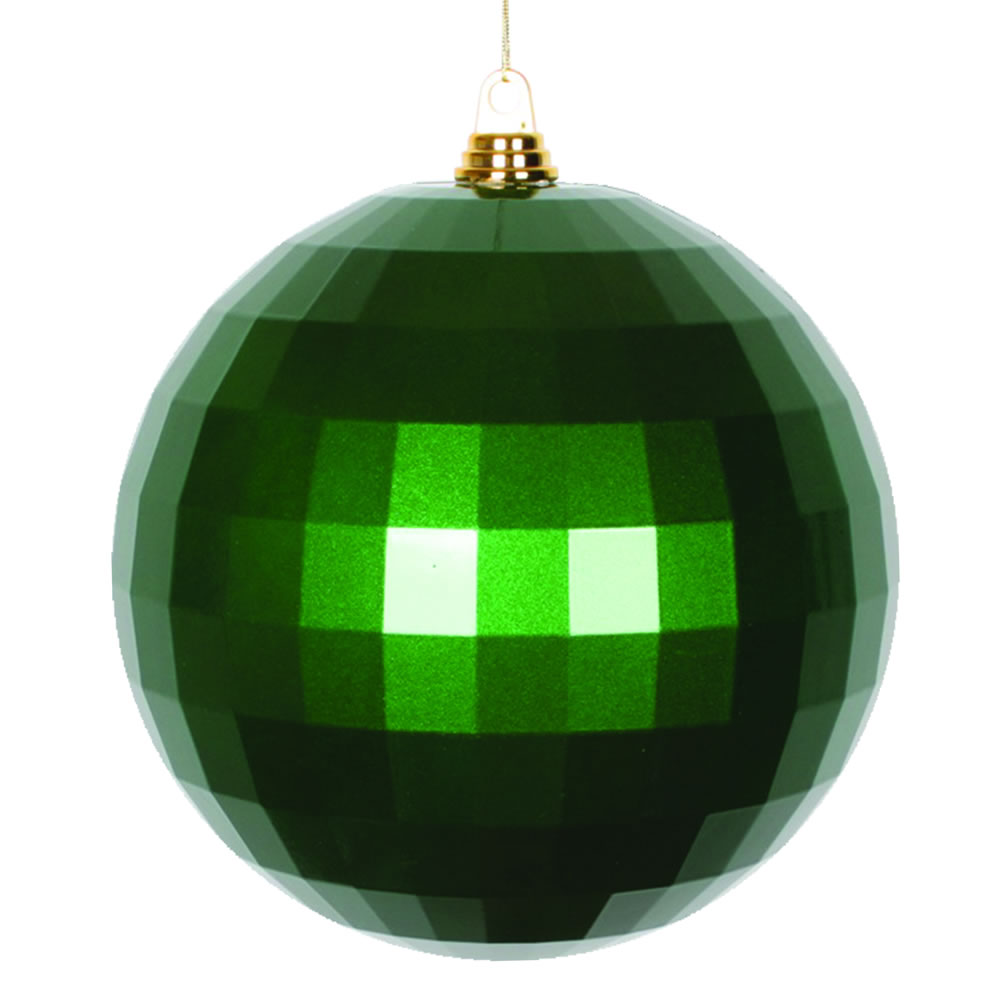 10 Inch Green Candy Finish Mirror Round Christmas Ball Ornament