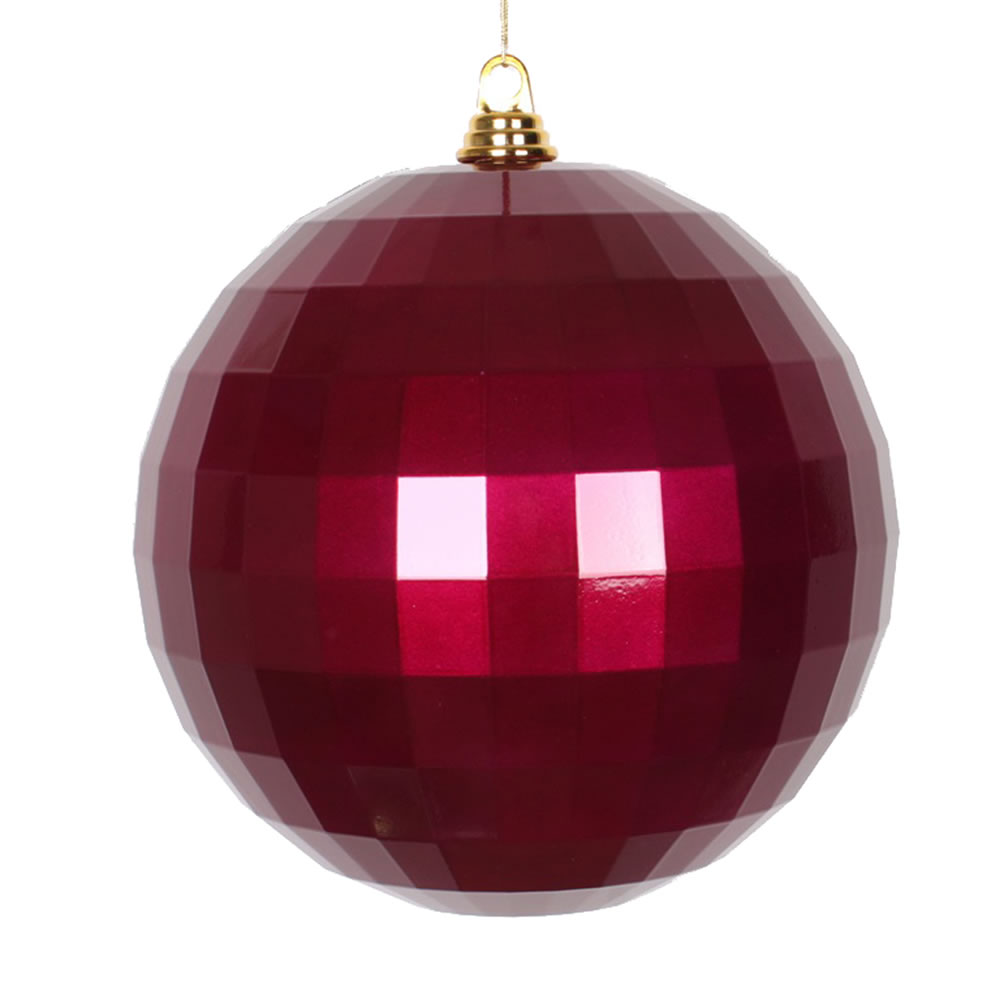 10 Inch Magenta Candy Mirror Christmas Ball Ornament