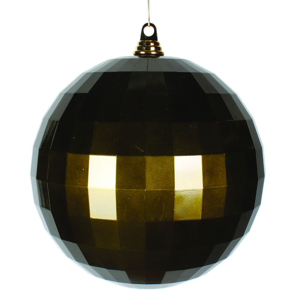 10 Inch Olive Green Candy Mirror Christmas Ball Ornament