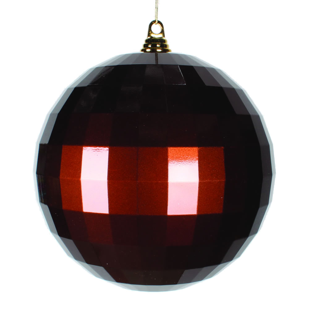 10 Inch Chocolate Brown Candy Mirror Christmas Ball Ornament