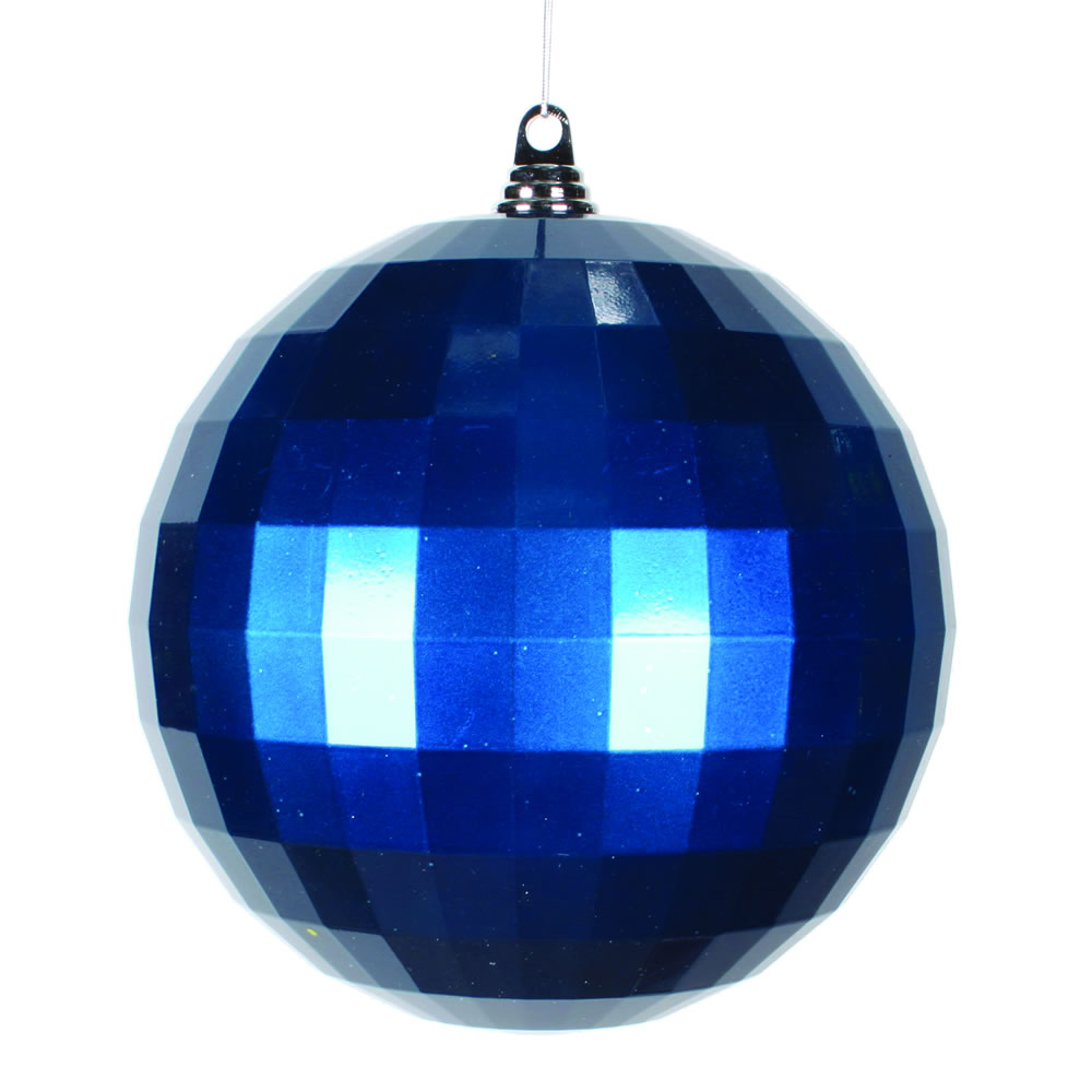 10 Inch Sea Blue Candy Finish Mirror Round Christmas Ball Ornament