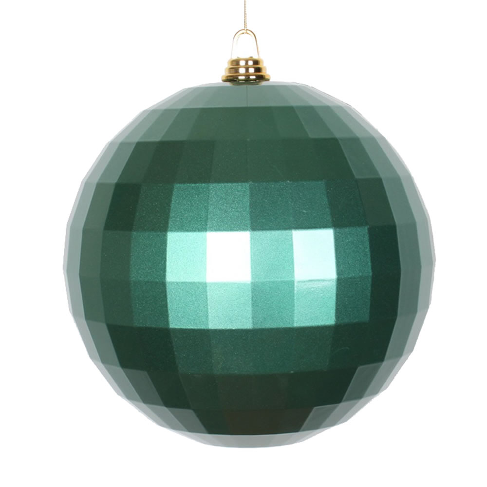 10 Inch Emerald Green Candy Finish Mirror Round Christmas Ball Ornament