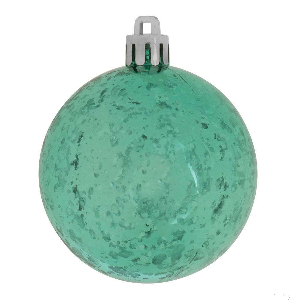 12 Inch Teal Shiny Mercury Christmas Ball Ornament Shatterproof