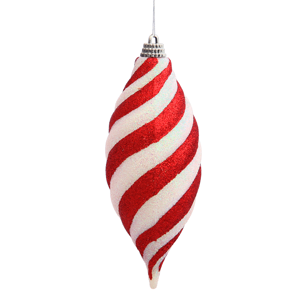 4.75 Inch Red Candy Cane Spiral Drop Christmas Ornament