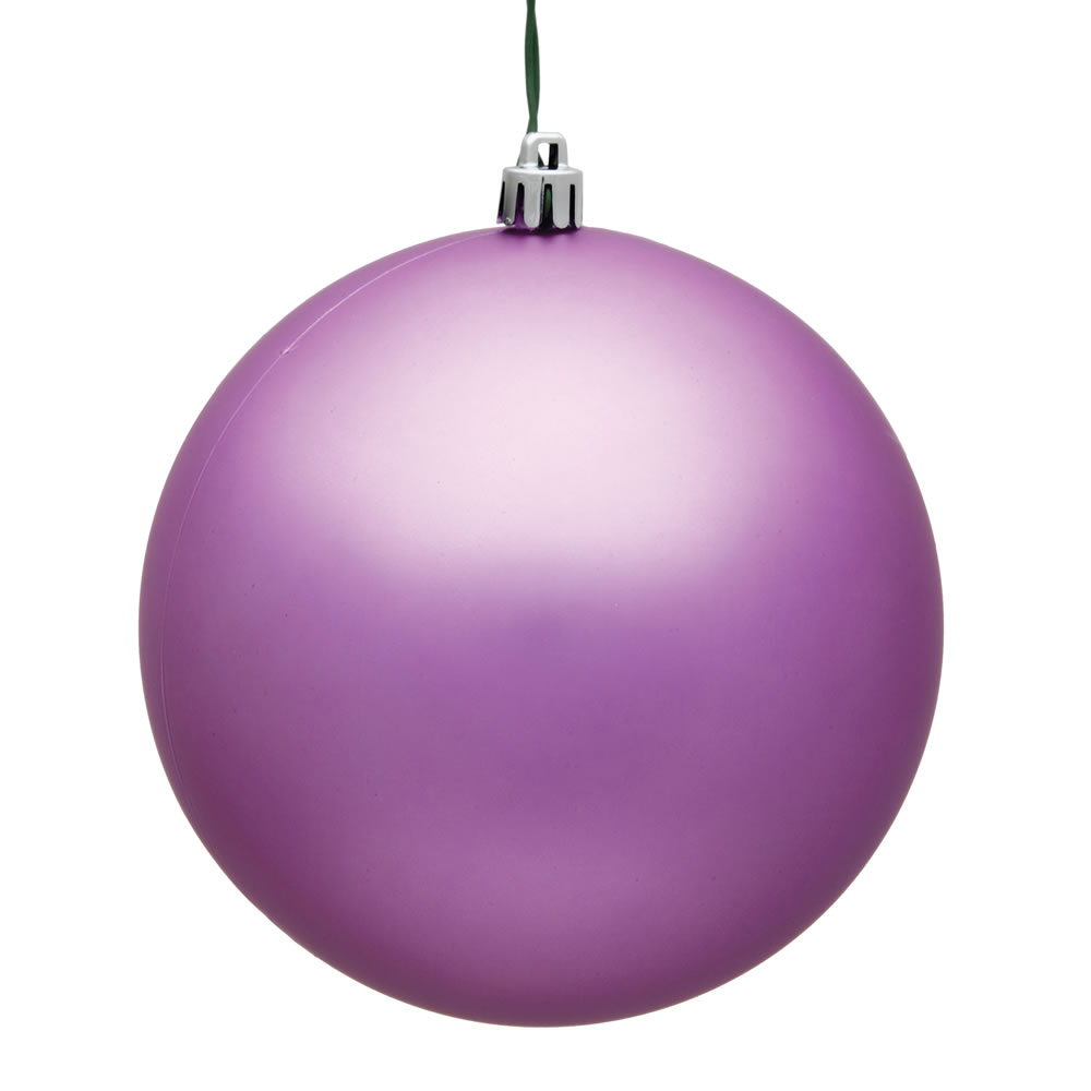8 Inch Orchid Matte Christmas Ball Ornament UV