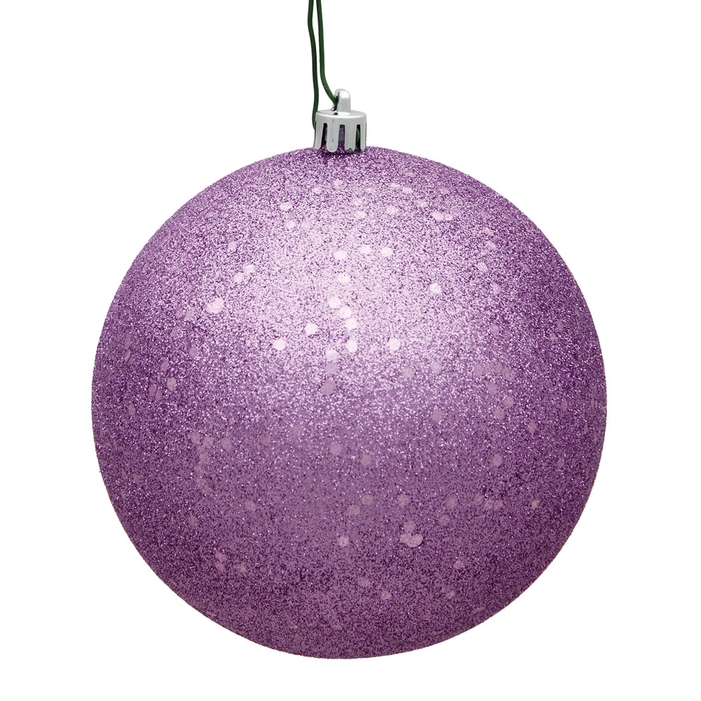 8 Inch Orchid Sequin Round Christmas Ball Ornament