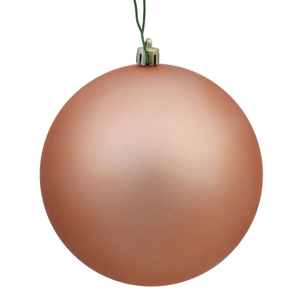 12 Inch Rose Gold Matte Round Christmas Ball Ornament Shatterproof UV
