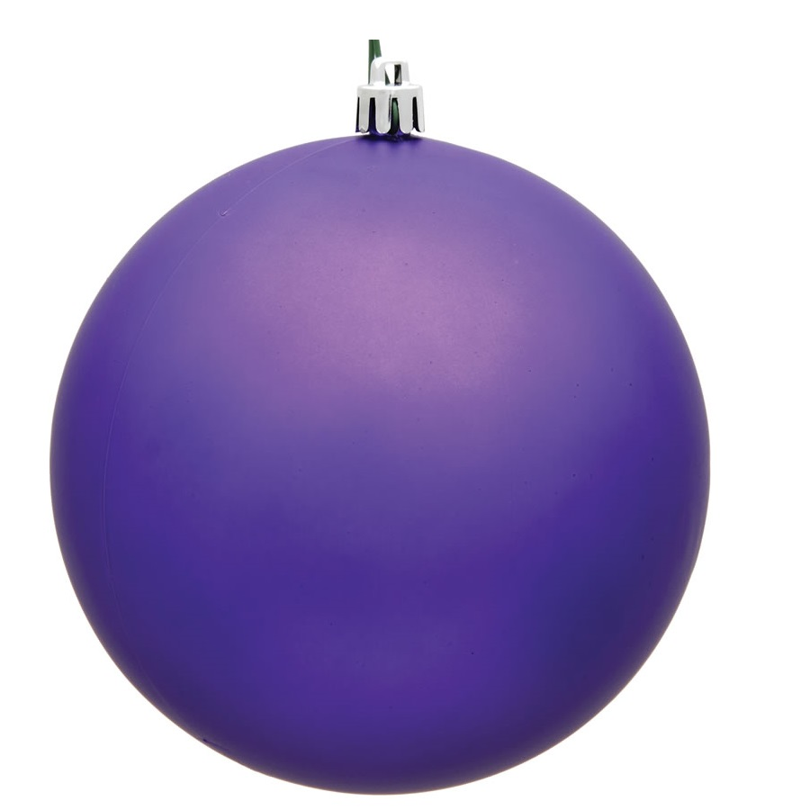 15.75 Inch Purple Violet Matte Round Christmas Ball Ornament Shatterproof UV
