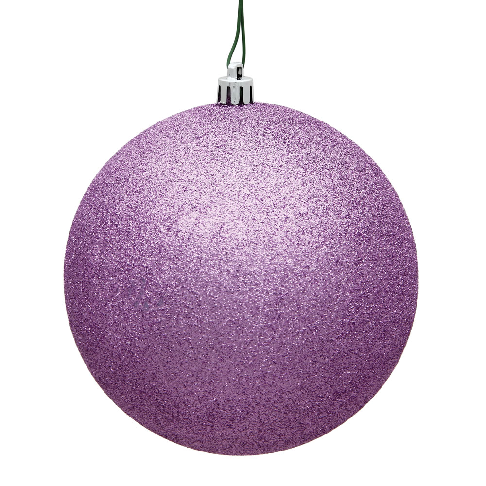 15.75 Inch Orchid Pink Glitter Round Christmas Ball Ornament Shatterproof UV