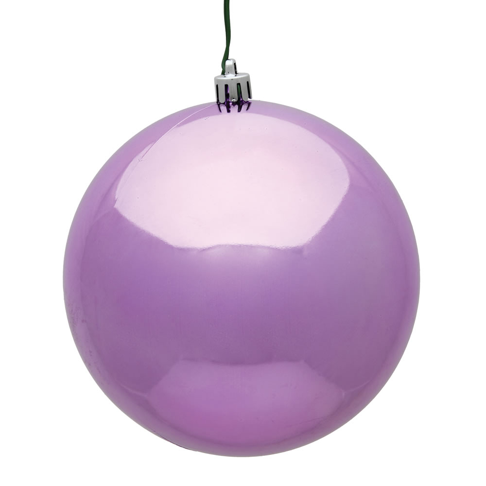 15.75 Inch Orchid Pink Shiny Round Christmas Ball Ornament Shatterproof UV