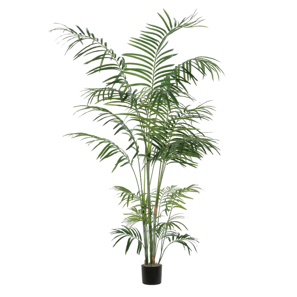 7 Foot Tropical Deluxe Artificial Potted Palm Tree Unlit