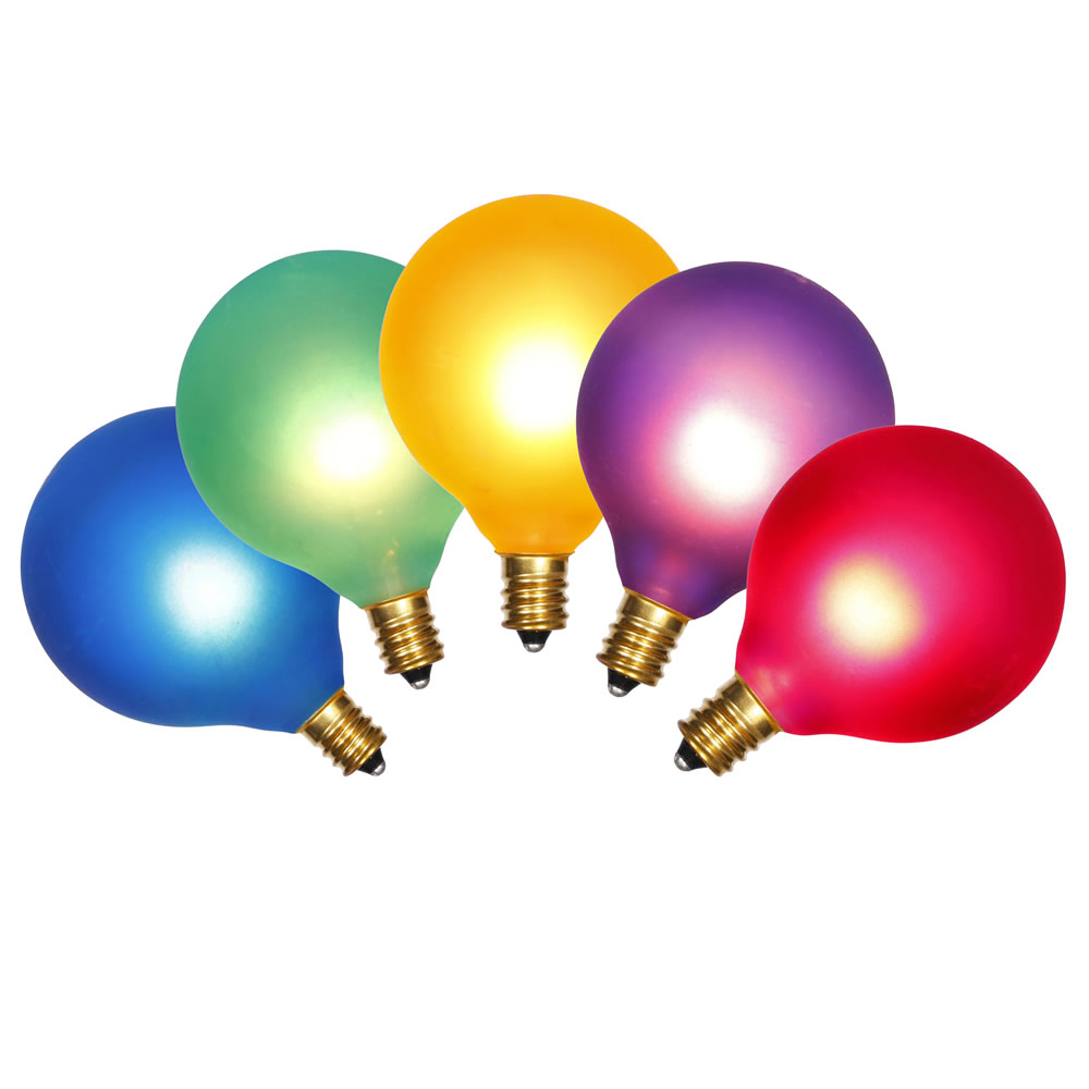 10 Incandescent G50 Globe Multi Color Retrofit C7 Socket Replacement Bulbs