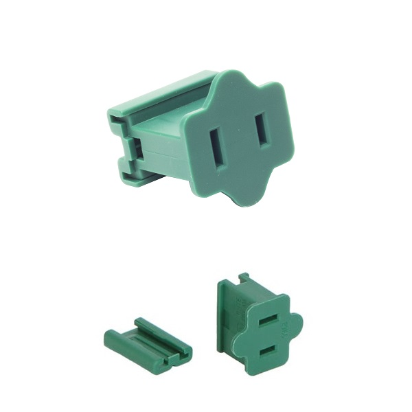Female Quick Plug SPT1 18 Gauge Green Wire 6 per Set