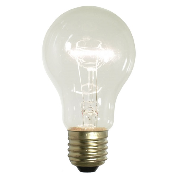 25 Incandescent A19 Clear Transparent Replacement Light Bulbs - 25 Watts