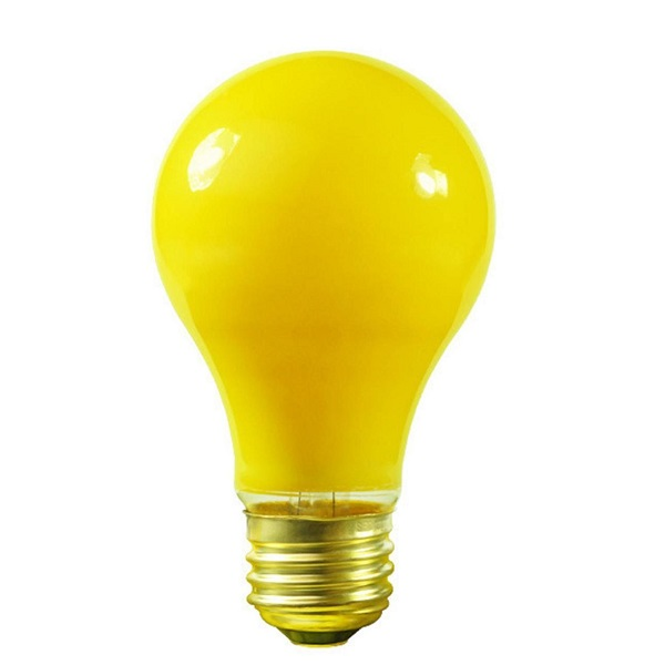 25 Incandescent A19 Yellow Ceramic Replacement Light Bulbs - 25 Watts