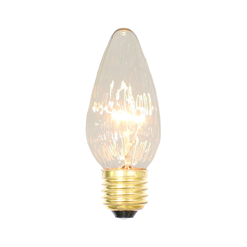 25 Incandescent F15 Clear Flame Retrofit Replacement Bulb - 40 Watt Medium E26 Base