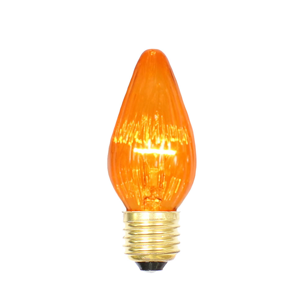 25 Incandescent F15 Amber Flame Retrofit Replacement Bulb - 40 Watt Medium E26 Base