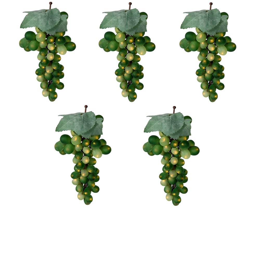 Green Grape Cluster 100 Incandescent Mini Christmas Light Set