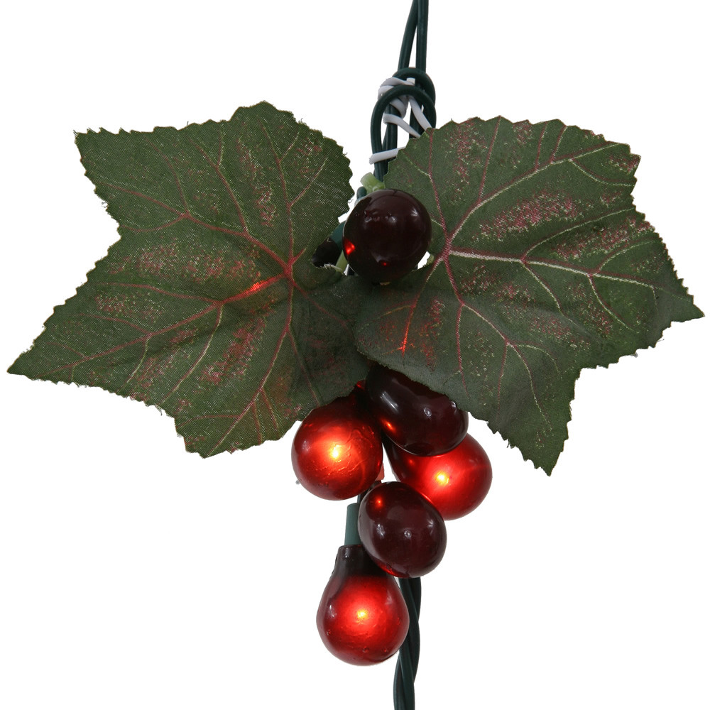 Red Grape Cluster 35 Incandescent Mini Christmas Light Set