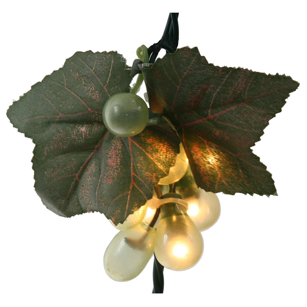 Green Grape Cluster 35 Incandescent Mini Christmas Light Set