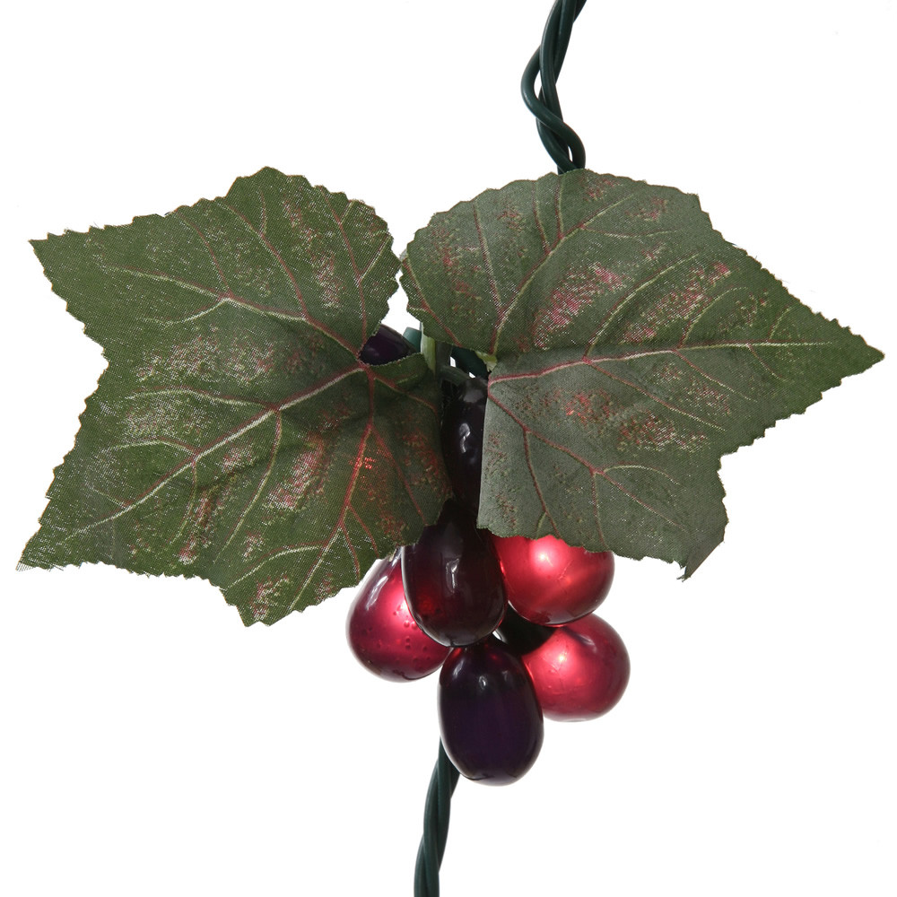 Purple Grape Cluster 35 Incandescent Mini Christmas Light Set