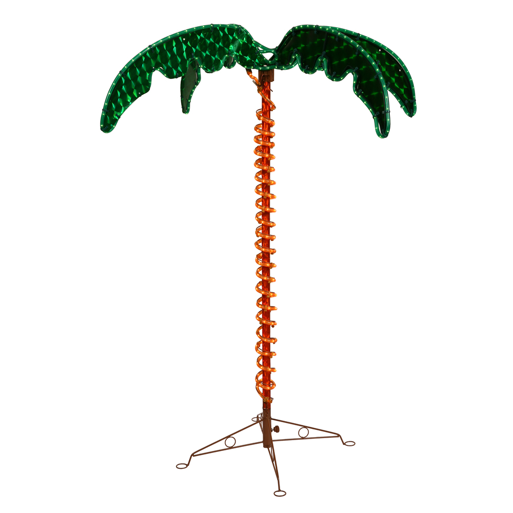 4.5 Foot LED Ropelight Holographic Palm Tree Lighted Christmas Outdoor Decoration UV