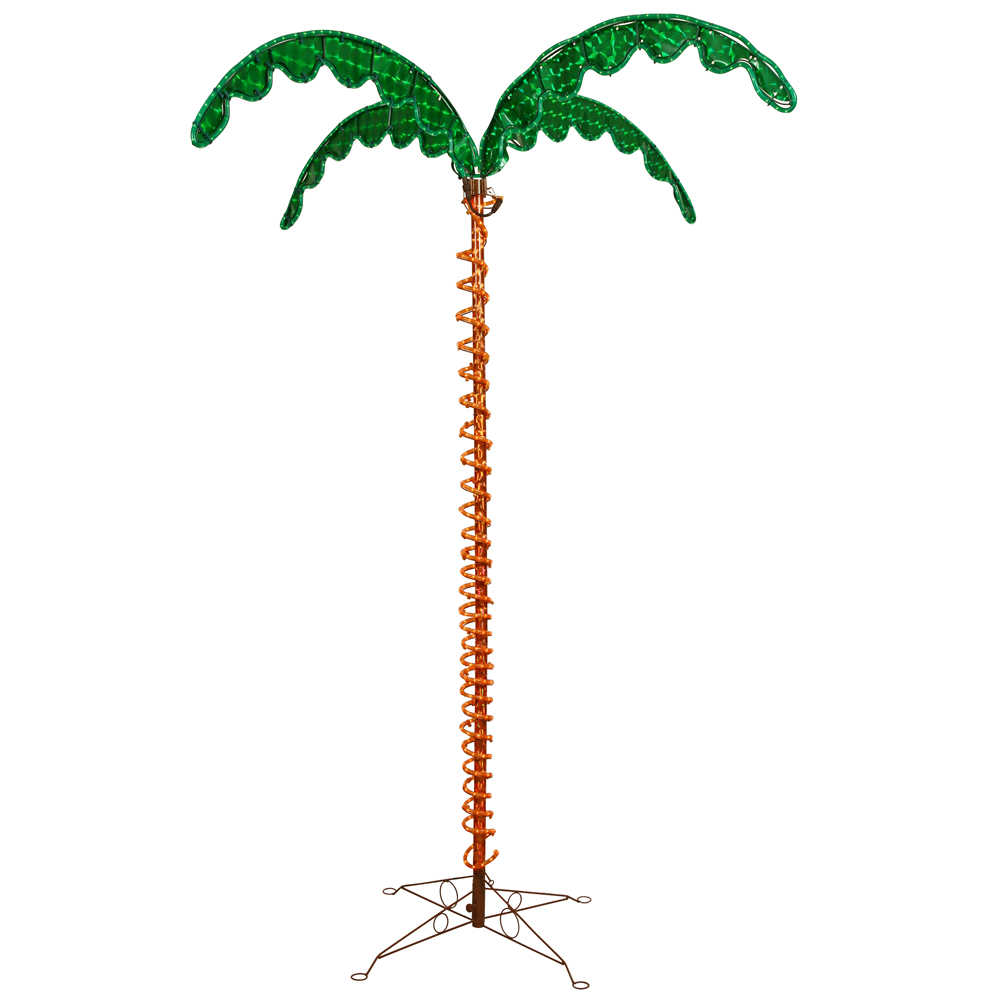 7 Foot LED Ropelight Holographic Palm Tree Lighted Christmas Outdoor Decoration UV