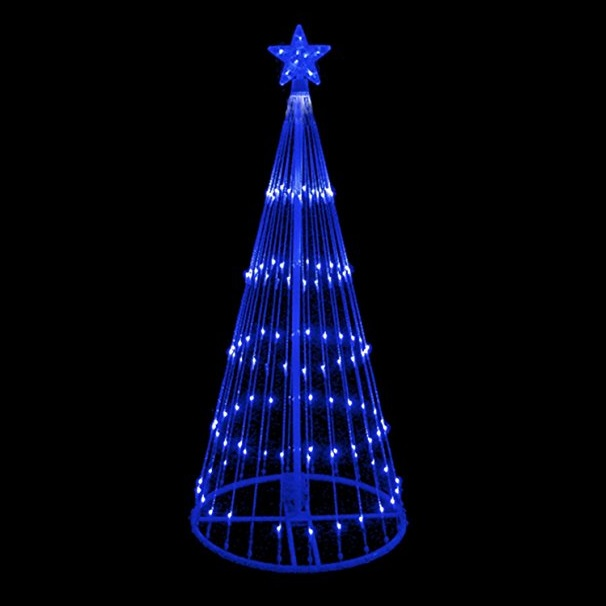 4 Foot LED Blue Light Show Tree 152 Blue Lights