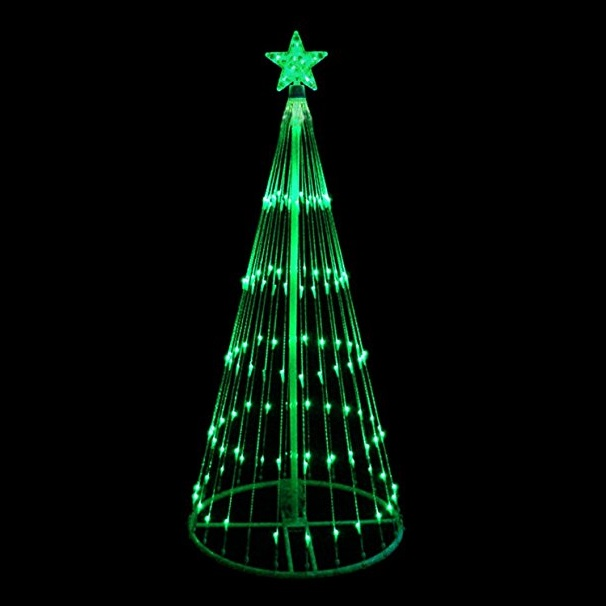 4 Foot LED Green Light Show Tree 152 Green Lights