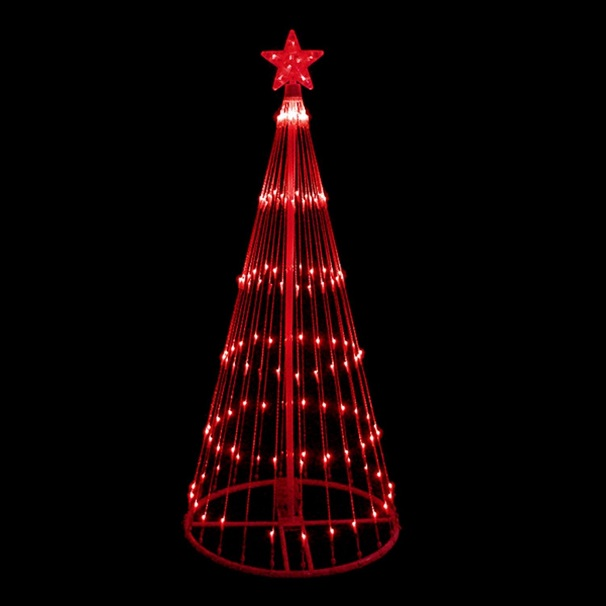 4 Foot LED Red Light Show Tree 152 Red Lights