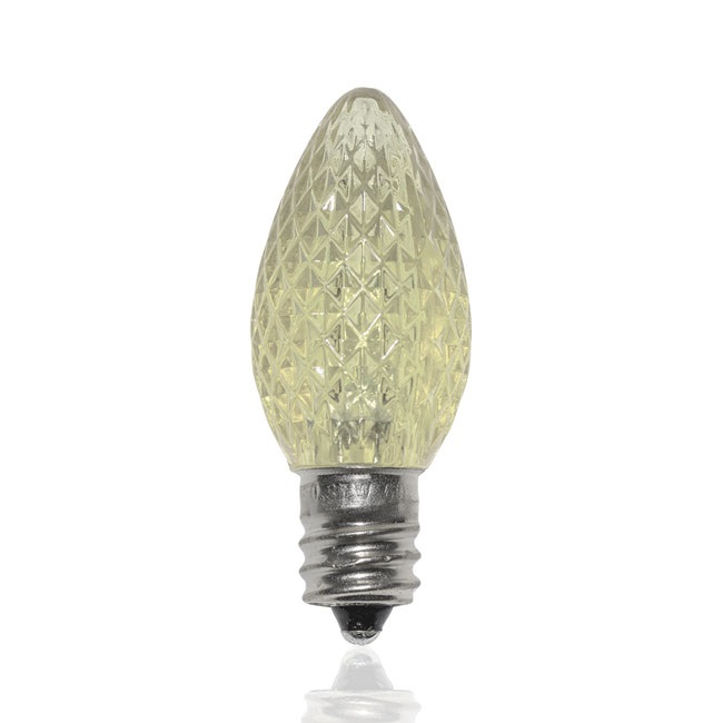 25 LED C7 Sun Warm White Faceted Retrofit Night Light Replacement Bulbs