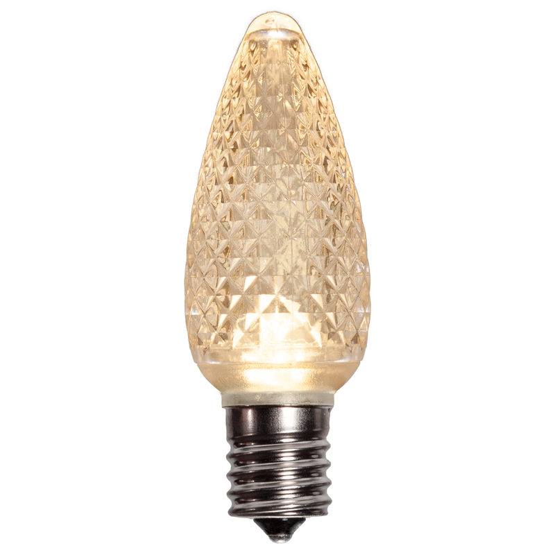 25 LED C9 Sun Warm White Twinkle Faceted Retrofit Replacement Bulbs