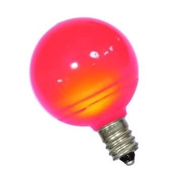 25 LED G40 Globe Red Ceramic Retrofit Night Light C7 Socket Replacement Bulbs