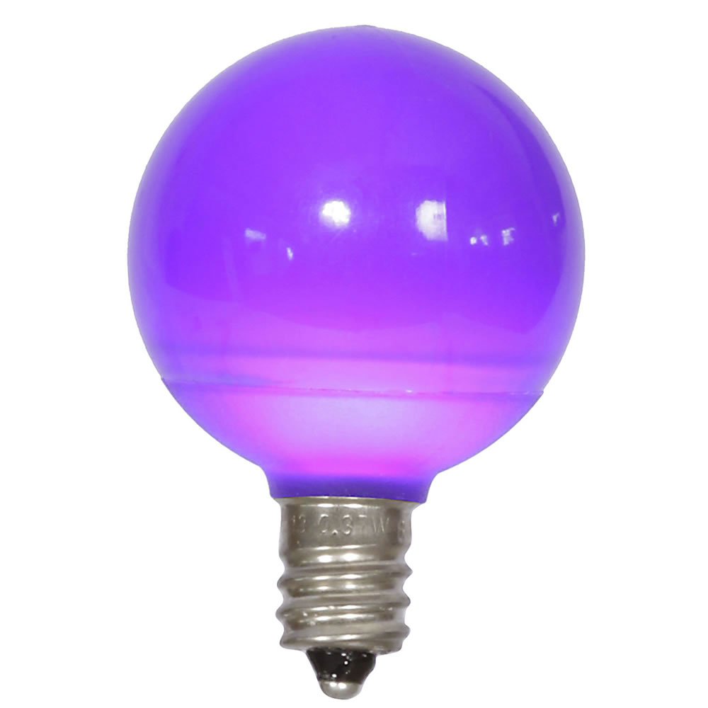 25 LED G40 Globe Purple Ceramic Retrofit Night Light C7 Socket Replacement Bulbs