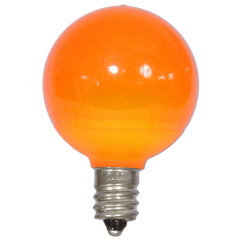 25 LED G40 Globe Orange Ceramic Retrofit Night Light C7 Socket Replacement Bulbs